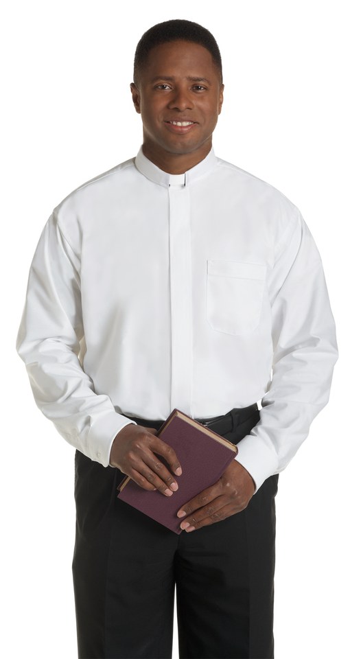 a5aba3fd White Tab Collar Clergy Shirt with Long Sleeves